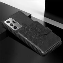 Voor Samsung Galaxy Note 20 Ultra Mandala Reliëf Magnetische doek PU + TPU + PC Case met Holder & Card Slots & Wallet & Photo Frame & Strap(Black)