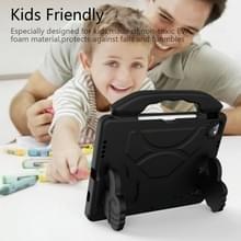 Voor iPad Air 2020 10.9 EVA Materiaal kinderen flat anti dalende cover beschermende shell met duimbeugel (zwart)