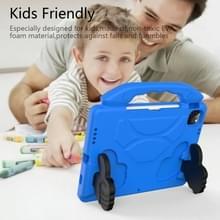 Voor iPad Air 2020 10.9 EVA Materiaal kinderen flat anti dalende cover beschermende shell met duimbeugel (Blauw)