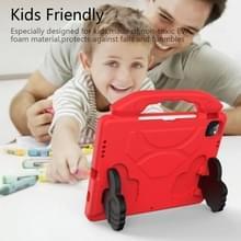 Voor iPad Air 2020 10.9 EVA Materiaal kinderen flat anti dalende cover beschermende shell met duimbeugel (rood)