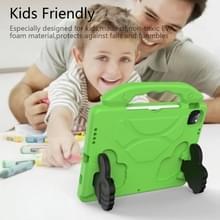 Voor iPad Air 2020 10.9 EVA Materiaal kinderen flat anti dalende cover beschermende shell met duimbeugel (groen)