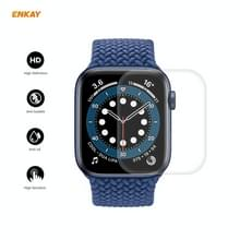 5 PC's voor Apple Watch Series 6/5/4/SE 44mm ENKAY Hat-Prince 3D Full Screen PET Gebogen Hot Bending HD Screen Protector Film (Transparant)