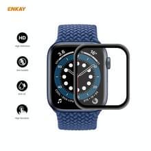 5 PC's voor Apple Watch Series 6/5/4/SE 40mm ENKAY Hat-Prince 3D Full Screen PET Gebogen Hot Bending HD Screen Protector Film(Zwart)