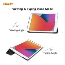 Voor iPad 10.2 2020 / 2019 ENKAY ENK-8014 PU Leder + Plastic Smart Case met drie vouwen houder(zwart)