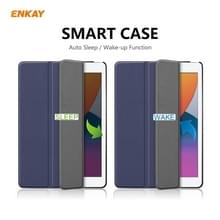 Voor iPad 10.2 2020 / 2019 ENKAY ENK-8014 PU Leder + Plastic Smart Case met drie vouwen houder(Donkerblauw)