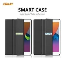 Voor iPad 10.2 2020 / 2019 ENKAY ENK-8016 PU Leder + TPU Smart Case met Pen Slot(Zwart)