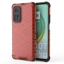 Voor Xiaomi Mi 10T/Mi 10T Pro/Redmi K30S schokbestendige honingraat PC + TPU case(rood)