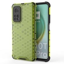 Voor Xiaomi Mi 10T/Mi 10T Pro/Redmi K30S schokbestendige honingraat PC + TPU case(groen)