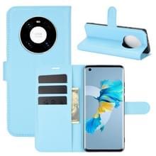 Voor Huawei Mate 40 Litchi Texture Horizontale Flip Beschermhoes met houder & kaartslots & portemonnee(blauw)