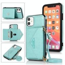 Multifunctionele Cross-body Card Bag TPU+PU Back Cover Case met Holder & Card Slot & Wallet Voor iPhone 11(Groen)