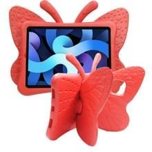 Butterfly Bracket Style EVA Children Shockproof Beschermhoes voor iPad Air (2020) 10.9(Rood)