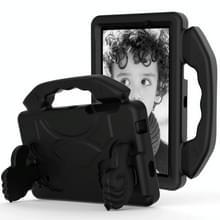 Voor Galaxy Tab 4 7.0 T230 / T231 EVA Materiaal kinderen platte anti vallende deksel beschermende shell met duimbeugel (zwart)