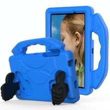 Voor Galaxy Tab 4 7.0 T230 / T231 EVA Materiaal kinderen platte anti vallende deksel beschermende shell met duimbeugel (blauw)
