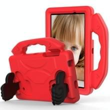 Voor Galaxy Tab 4 7.0 T230 / T231 EVA Materiaal kinderen platte anti vallende deksel beschermende shell met duimbeugel (rood)