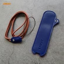 Voor JOUZ C Hat-Prince ENKAY Litchi Texture Full Surrounded PU Leather Case met Nylon Lanyard (Blauw)