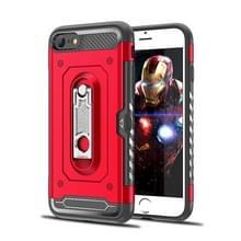 Schokbestendige PC + TPU Case voor iPhone 6 & 6S  met houder (rood)