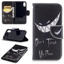 Gekleurde tekening patroon horizontale Flip lederen case voor iPhone 5 & SE  met houder & kaartsleuven & portemonnee (SMIRK)