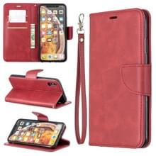 Retro Lambskin textuur pure kleur horizontale Flip PU lederen draagtas voor Galaxy S10 PLUS  met houder & kaartsleuven & portemonnee & Lanyard (rood)