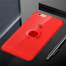 Ultradun tpu-beschermhoes voor iPhone 6 & 6s  met 360 graden rotatiehouder(rood)