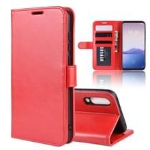 R64 textuur één fold horizontale Flip lederen draagtas voor MEIZU 16XS  met houder & kaartsleuven & portemonnee (rood)
