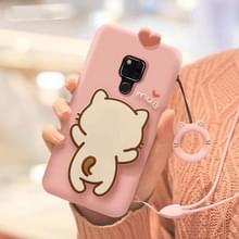 Kleine witte kat volledige pakket anti Falling silicone Sleeve voor Huawei mate 20 (roze)