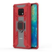 Iron Warrior schokbestendige PC + TPU beschermende case voor Huawei mate 20 Pro  met ring houder (rood)