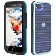 2 in 1 TPU + PC effen kleur combinatie drop voor iPhone 8Plus/7Plus (zwart + blauw)