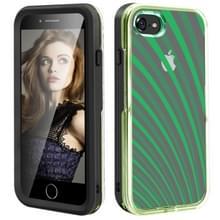 2 in 1 TPU + PC effen kleur combinatie drop voor iPhone 8Plus/7Plus (zwart + groen)