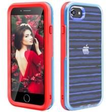 2 in 1 TPU + PC effen kleur combinatie drop voor iPhone 8Plus/7Plus (rood + blauw)
