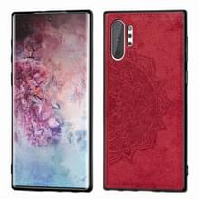 Reliëf Mandala patroon magnetische PC + TPU + stof schokbestendig geval voor Galaxy Note10 +  met Lanyard (rood)