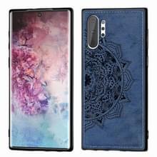 Reliëf Mandala patroon magnetische PC + TPU + stof schokbestendig geval voor Galaxy Note10 +  met Lanyard (blauw)
