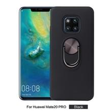 360 Rotary multifunctionele stent PC + TPU Case voor Huawei mate 20 Pro  met magnetische onzichtbare houder (zwart)