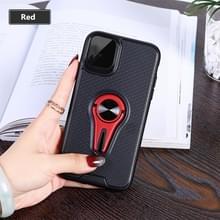 360 Rotary multifunctionele stent TPU Case voor iPhone XI Max 2019  met magnetische onzichtbare houder & autohouder (rood)