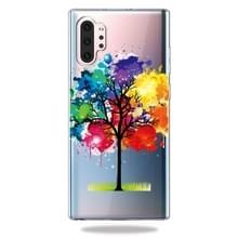 Patroon afdrukken zachte TPU mobiele telefoon Cover Case voor Galaxy Note10 + (boom schilderen)