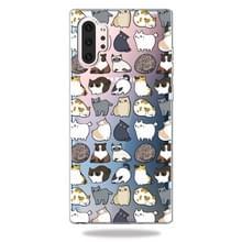 3D patroon afdrukken zachte TPU mobiele telefoon Cover Case voor Galaxy Note10 + (Minicat)