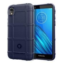 Volledige dekking schokbestendig TPU Case voor Motorola E6 (blauw)