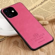 PINWUYO PIN Rui serie klassiek leer  PC + TPU + PU leer waterdicht en anti-Fall all-inclusive beschermende shell voor iPhone XIR 2019 (rood)