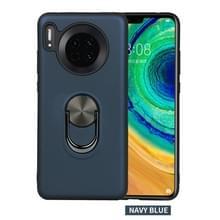 Voor Huawei mate 30  360 Rotary multifunctionele stent PC + TPU case met magnetische onzichtbare houder (marineblauw)