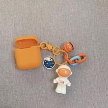 Voor Apple AirPods 1/2 generatie Universal astronaut Buckle Bluetooth headset beschermhoes (oranje)