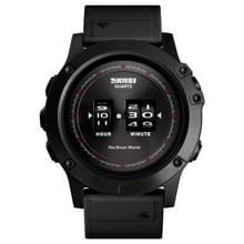 SKMEI 1546 mannen Drum roller horloge Fashion Leisure waterdichte grote horloge schijf ontwerp (zwart)