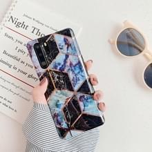 Voor Huawei P30 Pro plating kleurrijke geometrische patroon mozaïek marmer TPU mobiele telefoon geval (zwart PJ6)