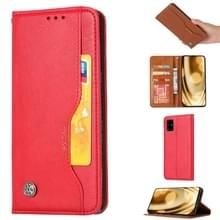 Voor Galaxy S20+ Knead Skin Texture Horizontal Flip Leather Case met Photo Frame & Holder & Card Slots & Wallet(Red)
