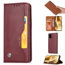 Voor Galaxy S20+ Knead Skin Texture Horizontal Flip Leather Case met Photo Frame & Holder & Card Slots & Wallet(Wine Red)