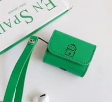 Voor Apple AirPods Pro hart dinosaurussen en groot-geconfronteerd dinosaurussen Bluetooth hoofdtelefoon beschermende case (Reseda)