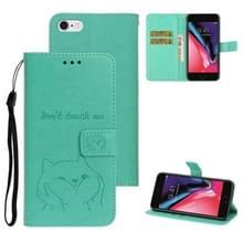 Voor iPhone 6/6S Chai hond patroon horizontale Flip lederen cover met beugel & kaartsleuf & portemonnee & Lanyard (groen)