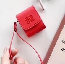 Voor Apple AirPods 1/2 gen Universal Nieuwjaar geld woorden leer Bluetooth hoofdtelefoon beschermende case (bezorgen Word)