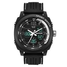 SANDA 790 outdoor horloge sport waterdichte dubbele display mannen horloge multi functie LED elektronische student horloge (wit)