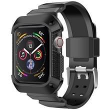 Voor Apple Watch 5 / 4 Generaties 44mm Universele geïntegreerde elektroplating strap (Zwart)