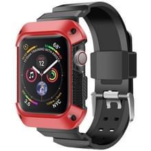 Voor Apple Watch 5 / 4 Generaties 44mm Universele geïntegreerde elektroplating strap (Rood + Zwart)