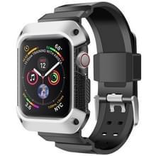 Voor Apple Watch 5 / 4 Generaties 44mm Universele geïntegreerde elektroplating strap (Zilver + Zwart)